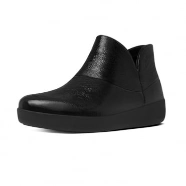 Supermod™ Soft Patent Ankle Boots in Black