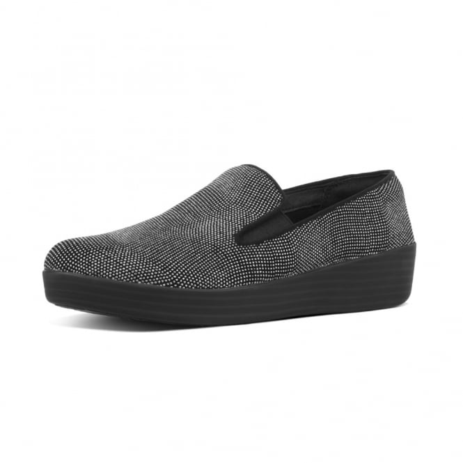 FitFlop Superskate™ Loafers in Black Glitter