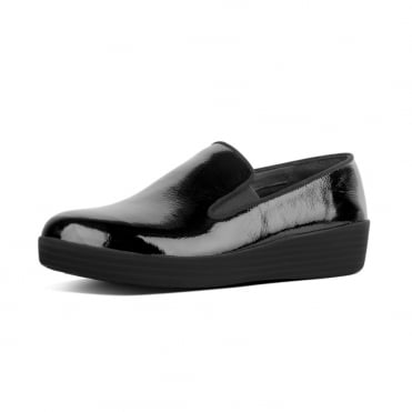 Superskate™ Patent Leather Loafers in Black