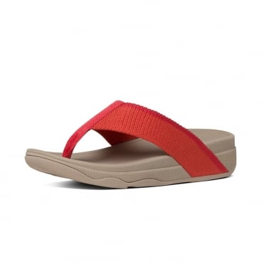 Surfa™ Stripe Flip Flops in Coral
