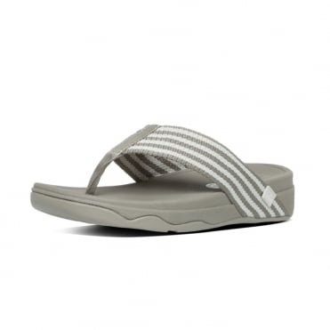 FitFlop Surfa™ Womens Textile Toe Post Sandals in Stone