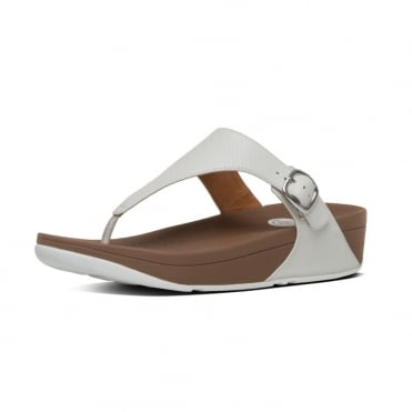 FitFlop The Skinny™ Women's Toe Post Sandal in Urban White Leather