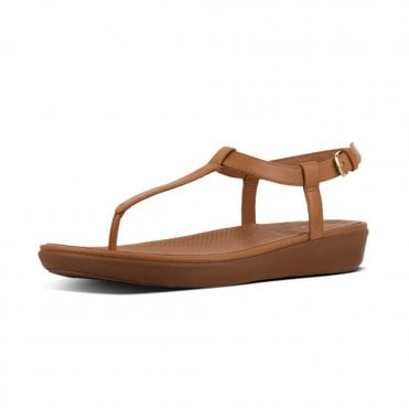 5cebe49800f5c Tia™ Leather Back-Strap Sandals in Caramel