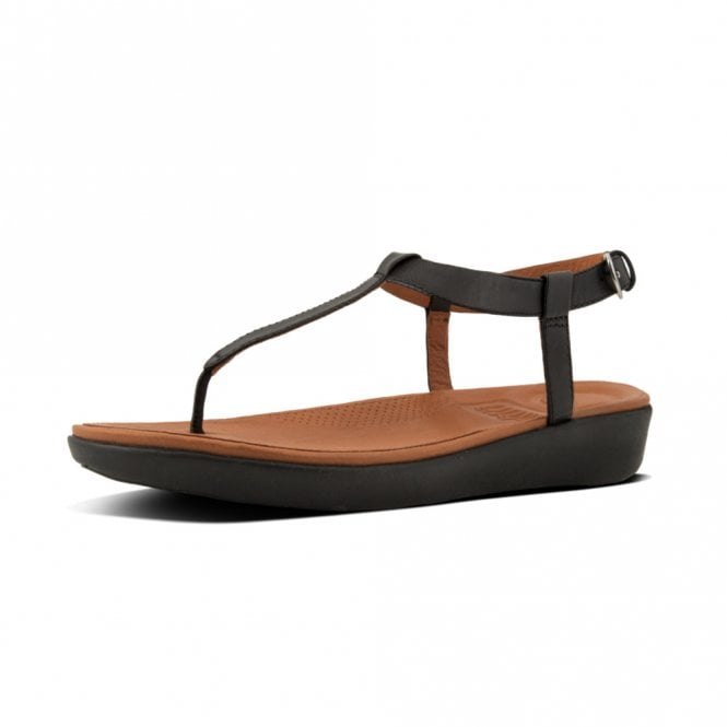 FitFlop Tia™ Toe Thong Sandals - Leather in Black