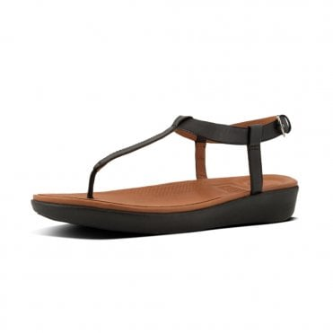 Tia™ Toe Thong Sandals - Leather in Black