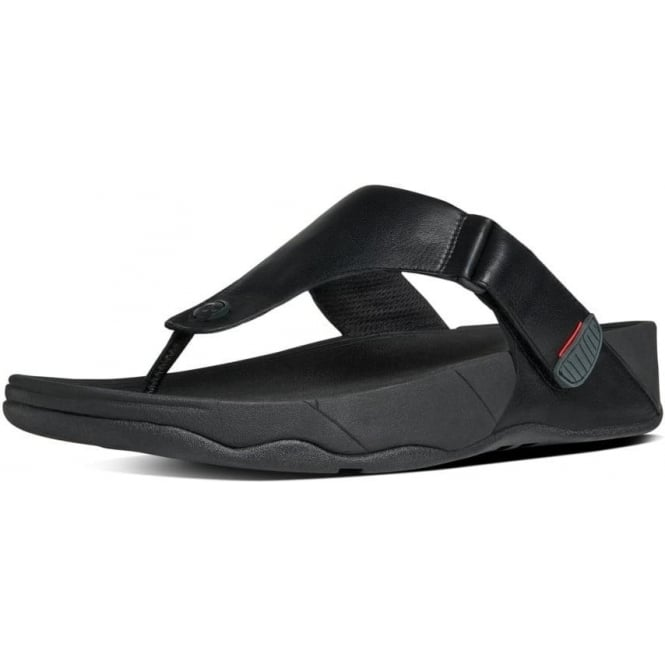59340d418f86ff Trakk II™ Men  039 s Leather Flip Flops in Black