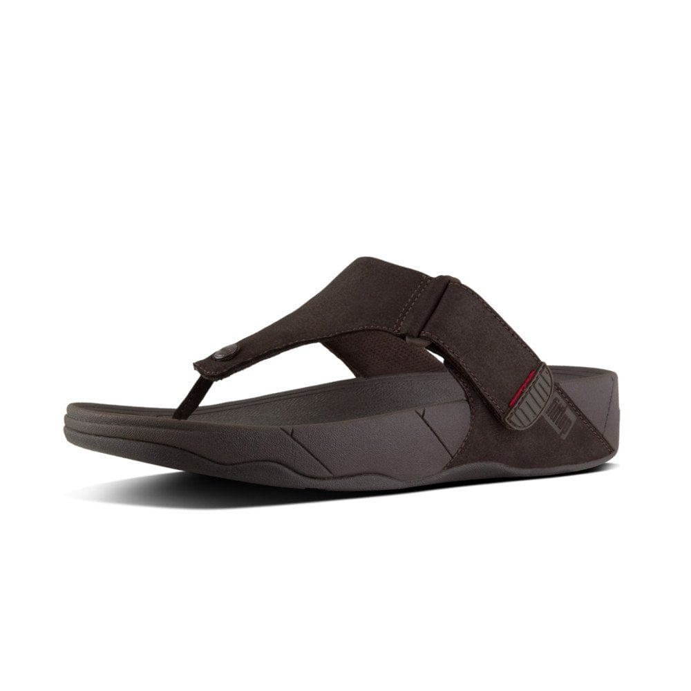 d23fbf7da437 Trakk II™ Men  039 s Leather Flip Flops in Chocolate