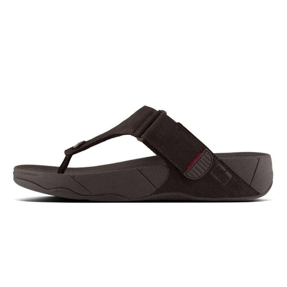 4aa15c9657c2 Trakk II™ Men  039 s Leather Flip Flops in Chocolate