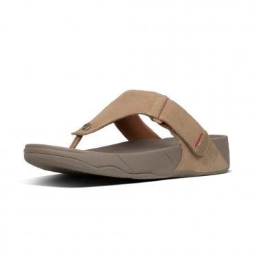 020d15a43b5 Trakk II™ Men s Leather Flip Flops in Grey Nubuck