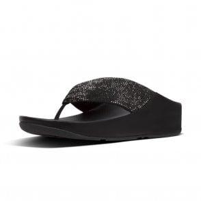 b6a8e97ea Twiss™ Crystal Toe-Post Sandals in Black