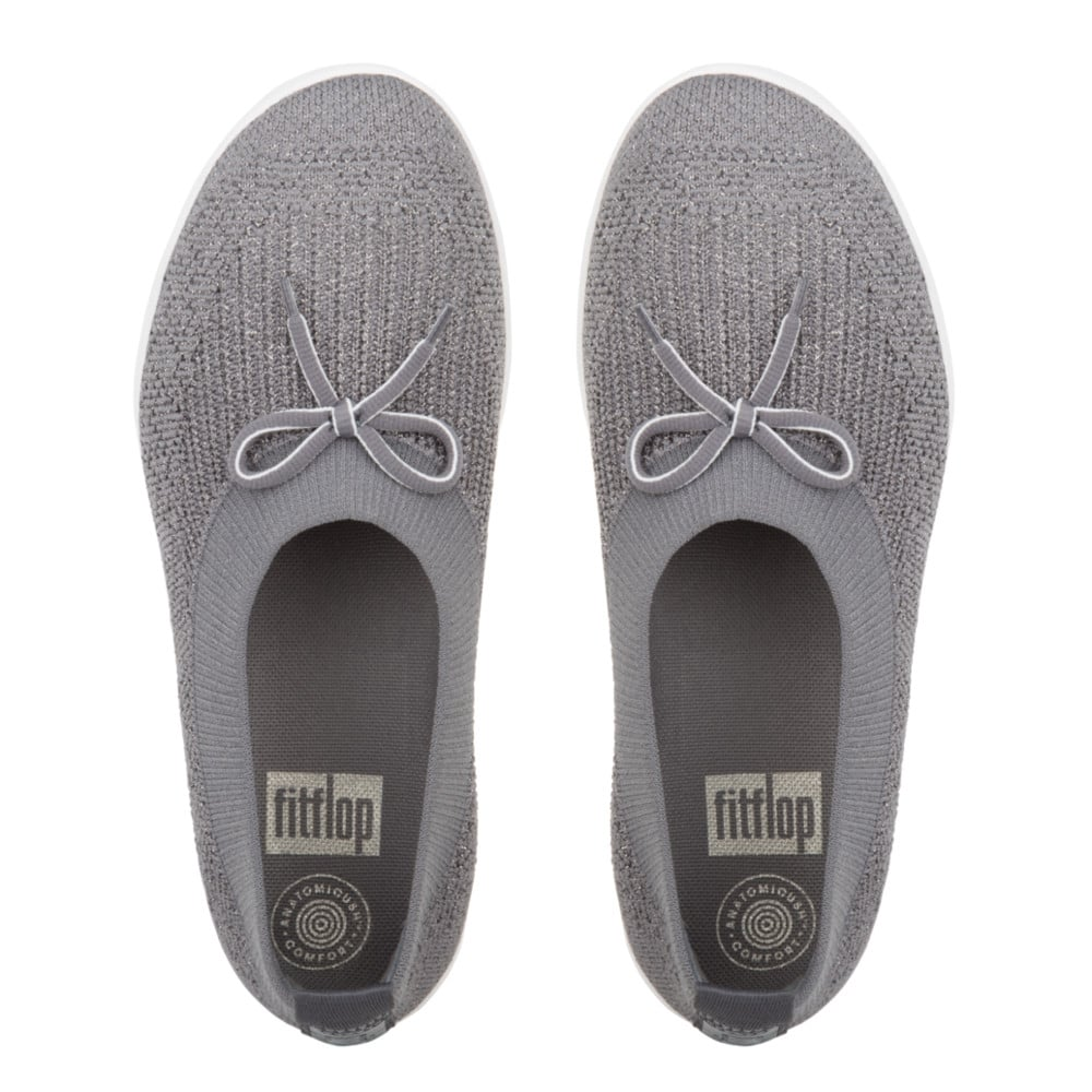 b91951ca28a Uberknit™ Ballerina with Bow - Metallic Weave in Charcoal