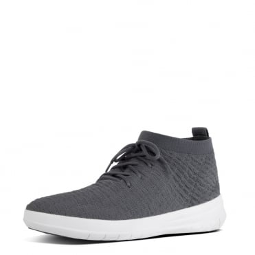Uberknit™ Men's Slip-On High Top Sneakers in Waffle-Knit Shadow