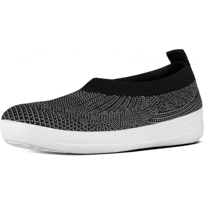 FitFlop Uberknit™ Slip-On Ballerinas in Charcoal