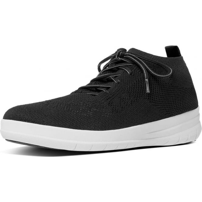 FitFlop Uberknit™ Slip-On High Top Sneakers in Black