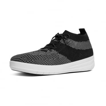 FitFlop Uberknit™ Slip-On High Top Sneakers in Charcoal