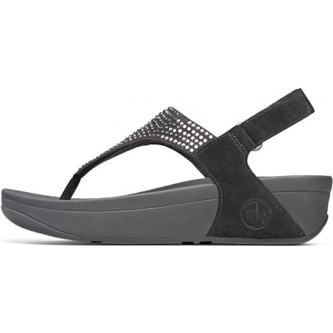 look out for classic fit for whole family FitFlop Flare Backstrap Sandals In Black