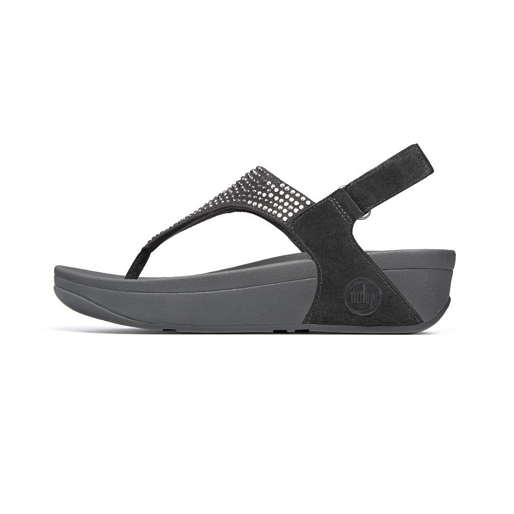flare black fitflop shoe