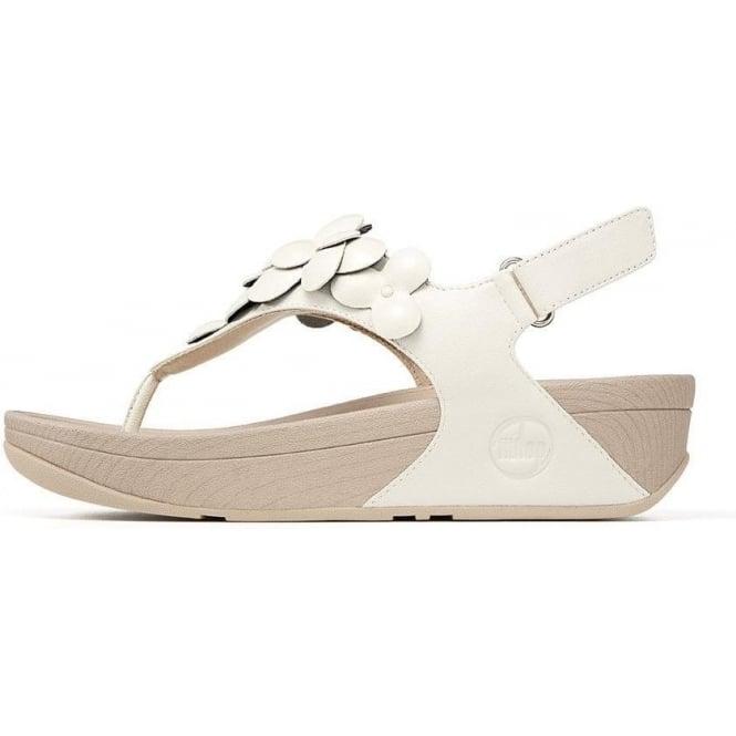 f66fb11a0995 Fleur Flowery Backstrap Sandals In Urban White Leather