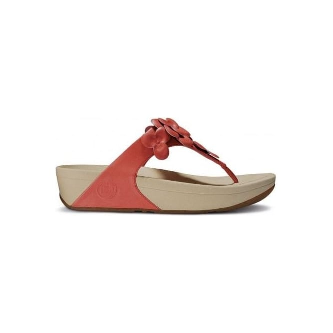 Fleur womens sandals in mineral red