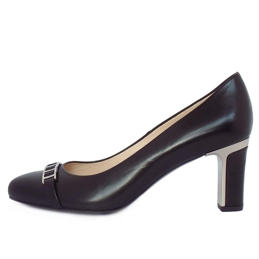 kaiser frisa s mid heel court shoes in black