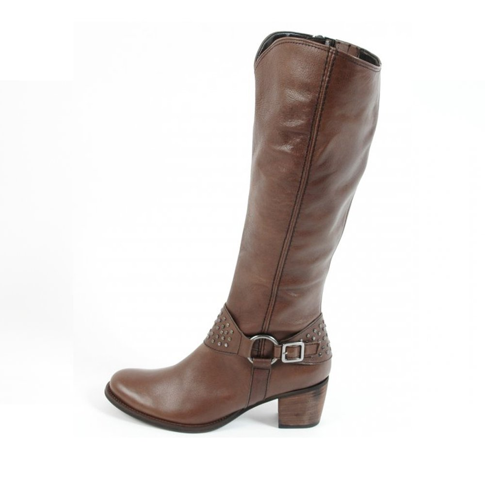 gabor camwell leather boots in brown from mozimo