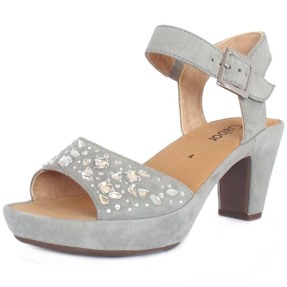 Gabor Women S    Fashion Sandals Grey Grey