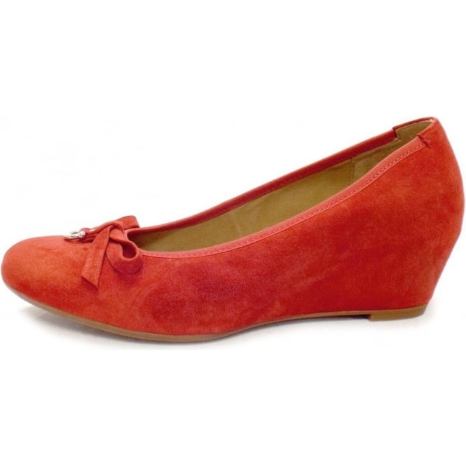 Gabor Shoes   Amorette Ladies Red Suede