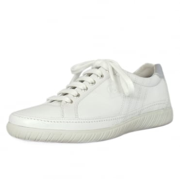 Amulet Womens Wide Fit Sporty Trainers In White