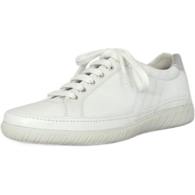 e717b66863a Amulet Womens Wide Fit Sporty Trainers In White   Silver