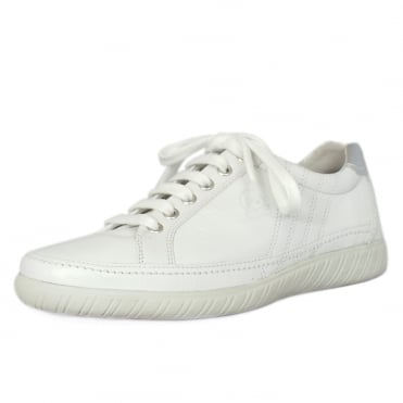 Amulet Womens Wide Fit Sporty Trainers In White / Silver