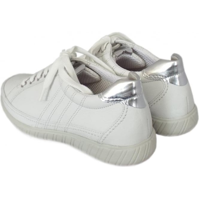 3924a39581d87 Gabor Shoes   Casual Ladies Wide Fit, Lace Up Shoe in White   Mozimo