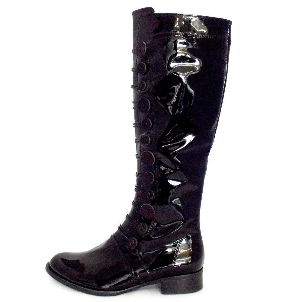Womens Black Patent Boots + Save this search. Showing womens black patent boots Free Express Shipping at SSENSE Dr. Martens Black Patent Molly Lolita Boots $ Get a Sale Alert Free Express Shipping at.