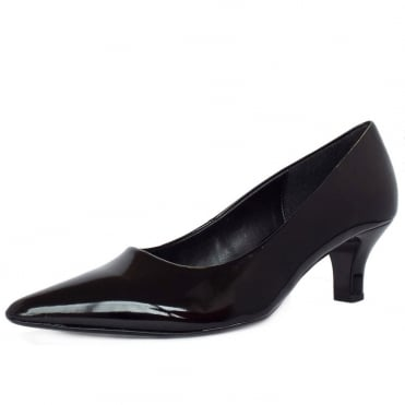 Arnica Black Patent Mid Heel Shoes