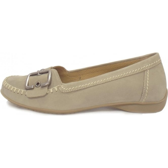 238cd757bdd Gabor Ascari Ladies Flat Shoe with Buckle in Taupe