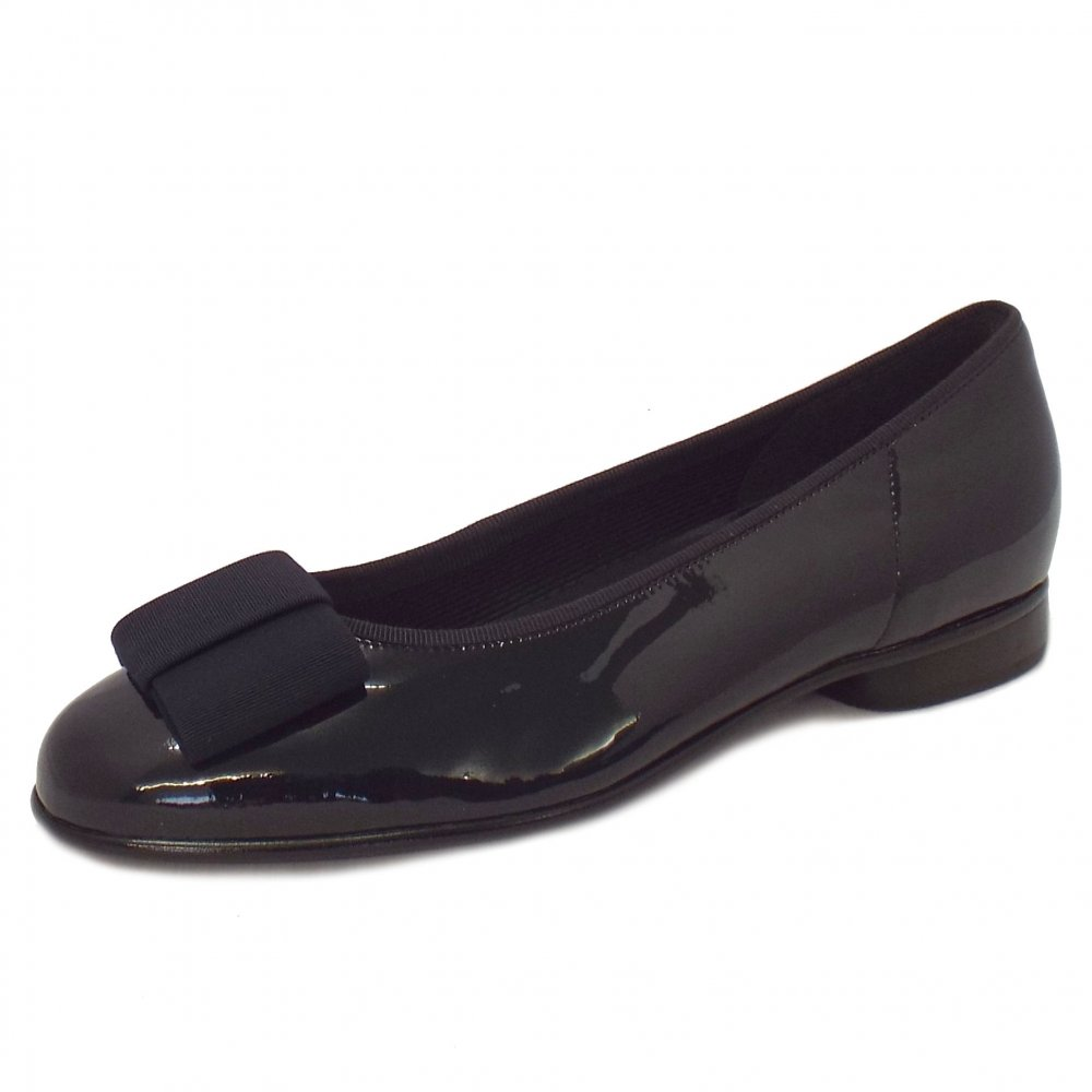 Gabor Shoes Assist Ladies Ballet Pump Shoe In Navy
