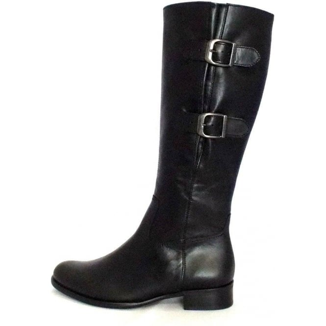 gabor boots astoria knee high boot in black mozimo