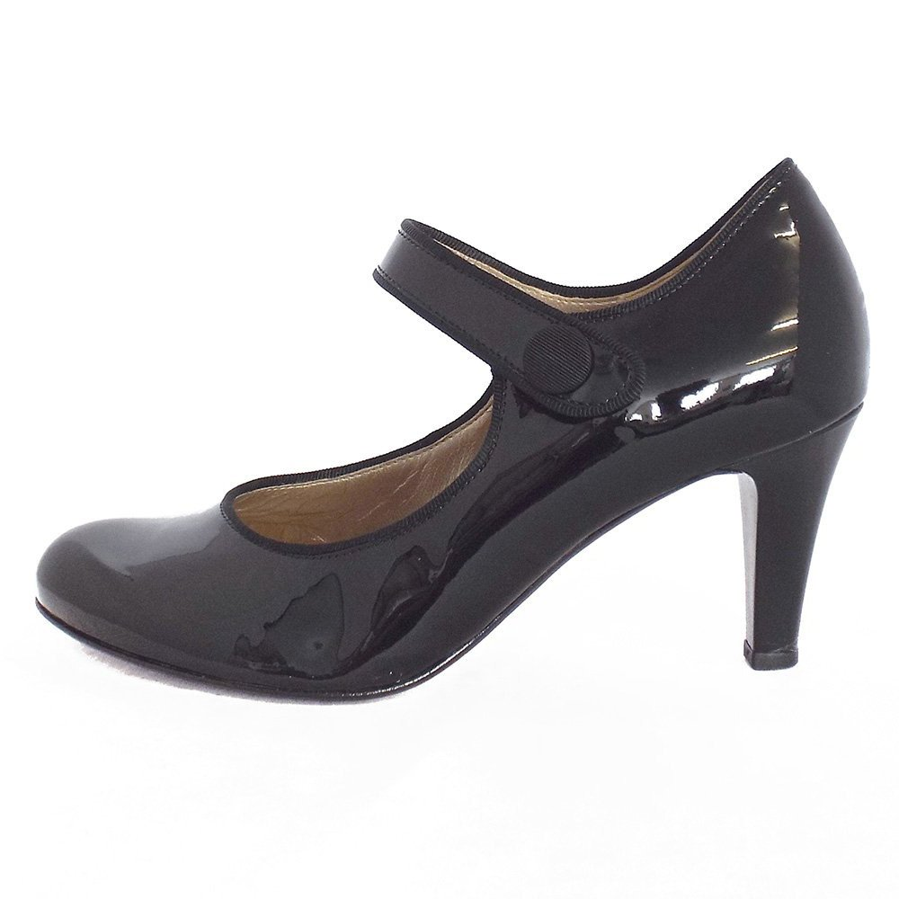 gabor shoes atwell mary jane shoe in black patent mozimo. Black Bedroom Furniture Sets. Home Design Ideas