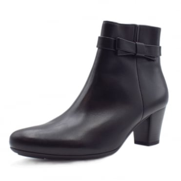 Bacton Classic Wide Fit Ankle Boots in Black