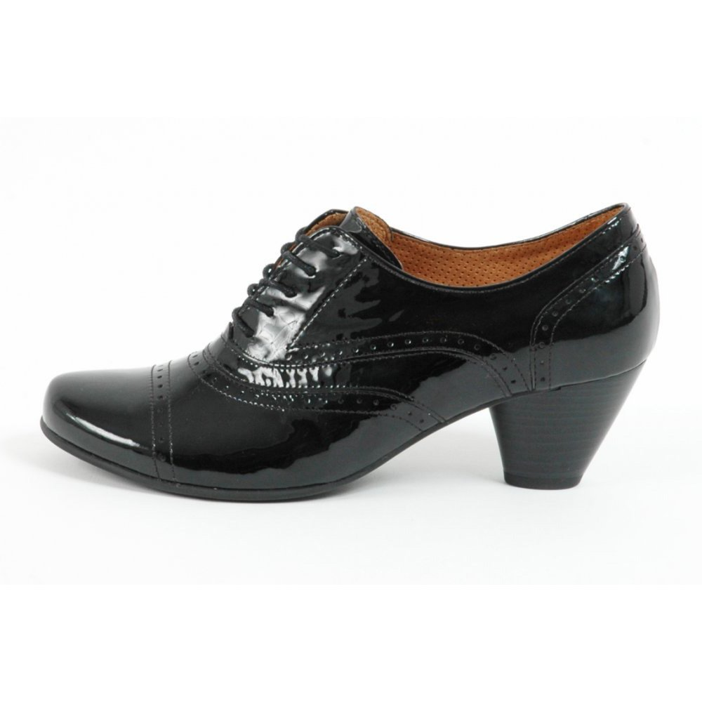 gabor shoes bauble lace up shoe in black patent