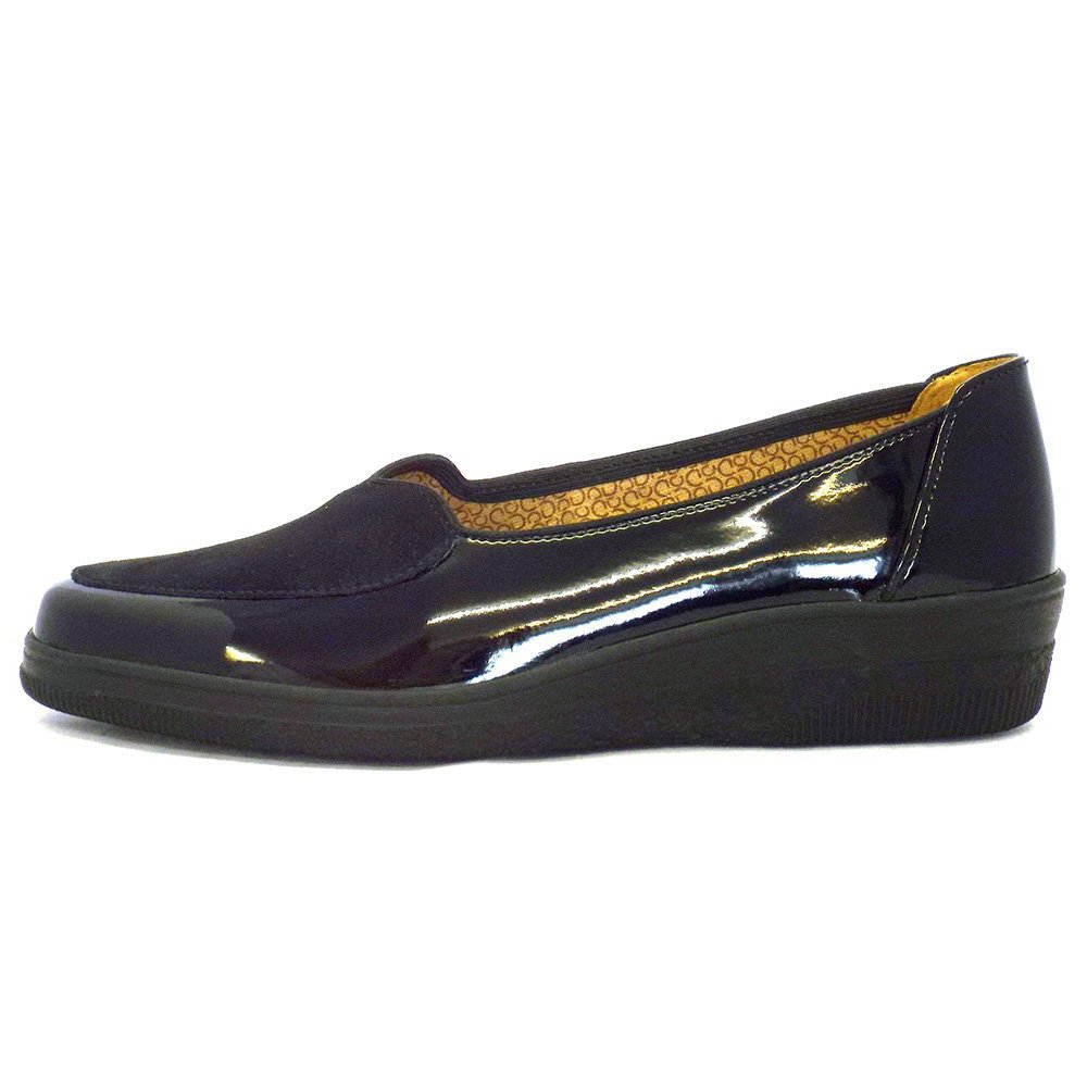 gabor shoes blanche ballet pump shoe in black patent mozimo. Black Bedroom Furniture Sets. Home Design Ideas