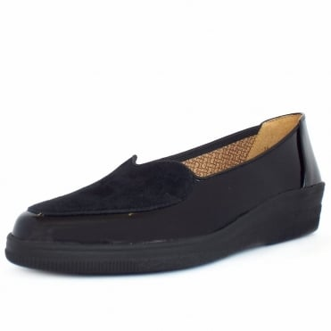 Blanche Ballet Pump Shoe In Black Patent