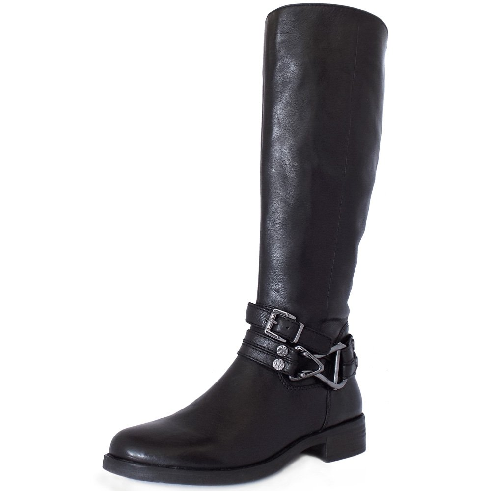 gabor bluebell modern knee high boots in black mozimo
