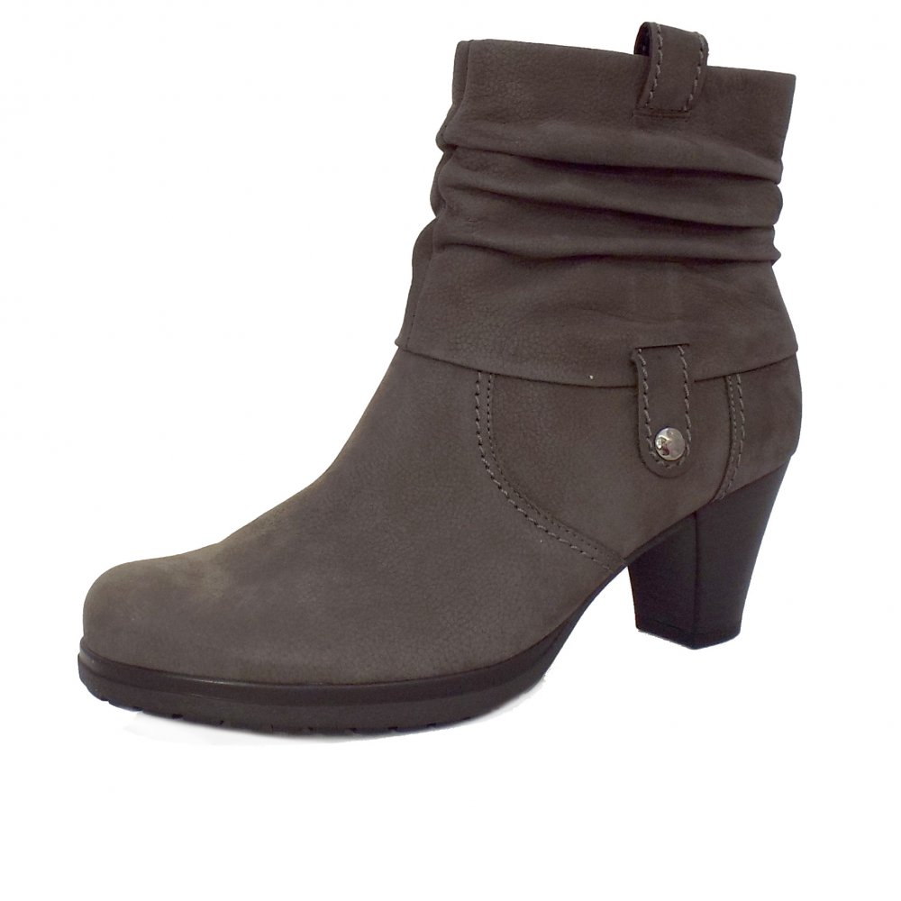 Original   Pescara Modern Wider Fit Ankle Boot In Anthracite Grey Suede