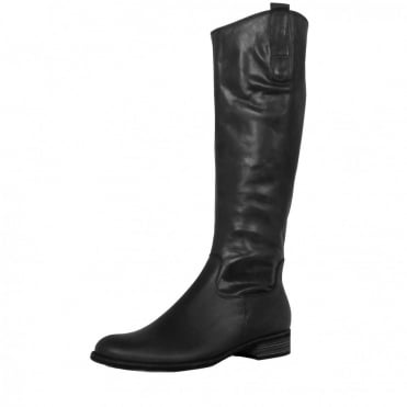Gabor Brook Ladies Riding Style Long Boots in Black Leather