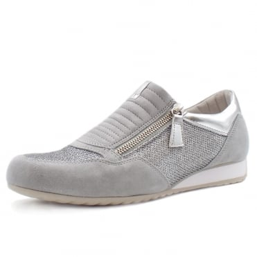Brunello Modern Sneakers in Silver Grey