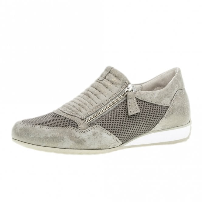 Gabor Brunello Modern Suede Wide Fit Sneakers in Taupe