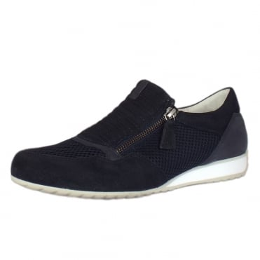 Brunello Modern Wide Fit Sneakers in Night Blue