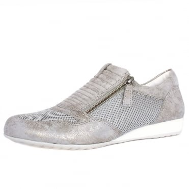 Brunello Modern Wide Fit Sneakers in Taupe