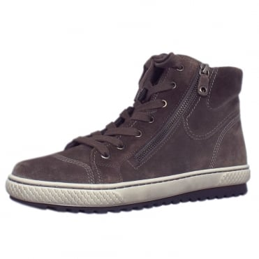 Bulner Modern Hi Top Trainer in Wallaby