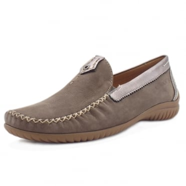 California Women's Wide Fit Loafer In Fumo